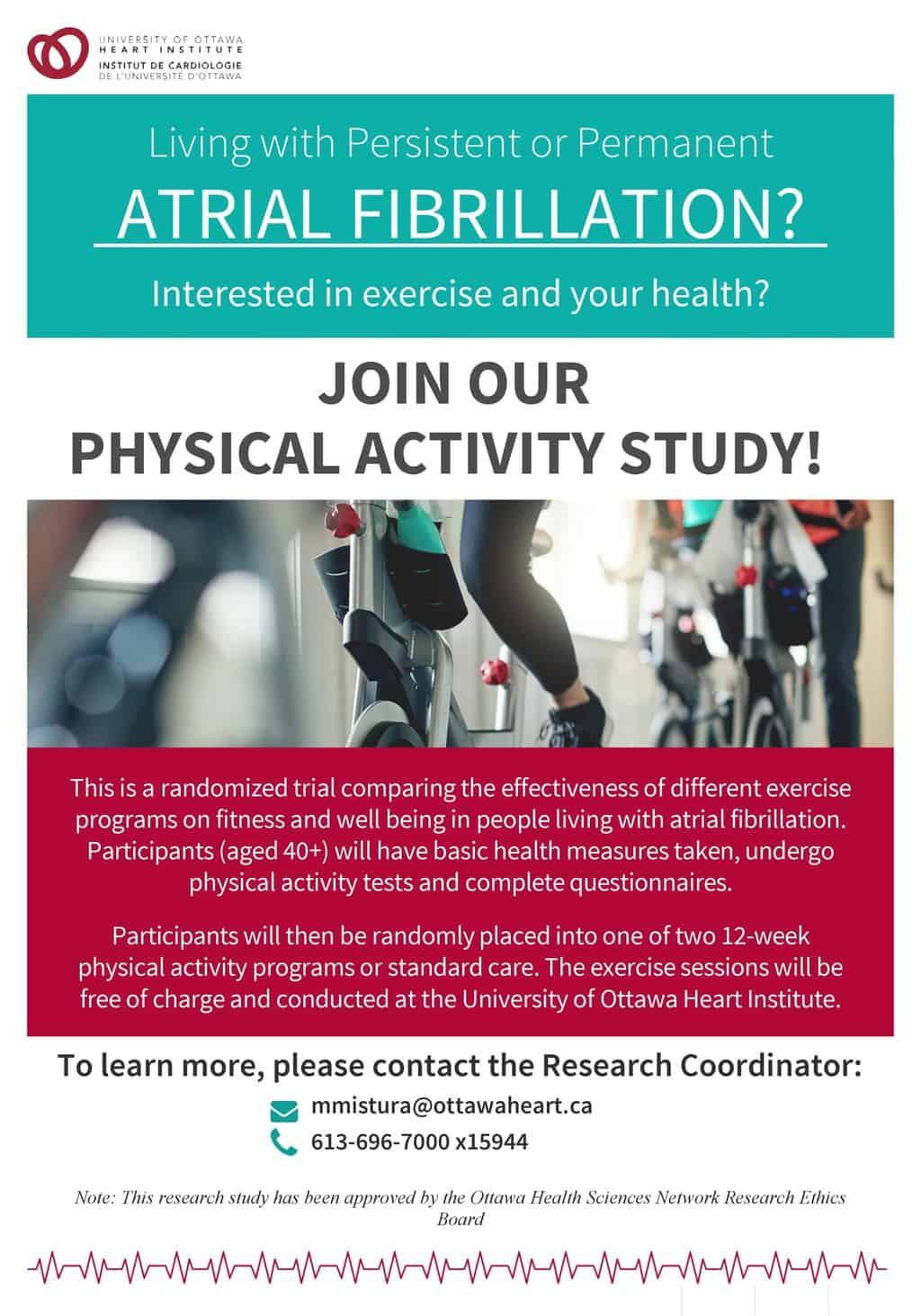 Exciting Atrial Fibrillation Exercise study at the Heart Institute
