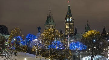 Christmas Lights in Downtown Ottawa