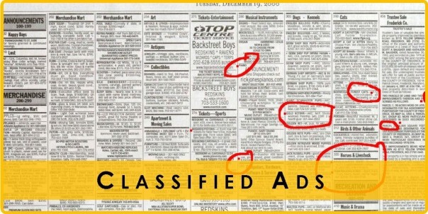 Ottawa Seniors Classifieds Database