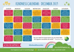 Action for Happiness: December Kindness Calendar
