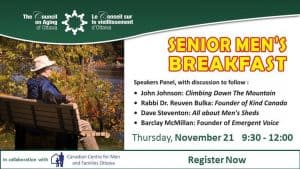 Attend the Senior Men's Breakfast for Great Info and Discussion - Council on Aging of Ottawa